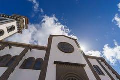 Nuestra de夫人la坎德拉里亚角,莫亚,西班牙教会  免版税图库摄影