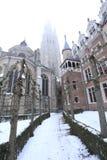 Nuestra iglesia de la señora en Brujas Fotos de archivo