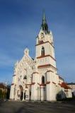 Nuestra iglesia neogótica católica de señora Protectress en Stryi, occidental imagen de archivo libre de regalías