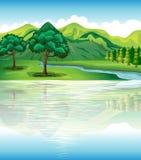 Nuestra pista y recursos hídricos naturales Foto de archivo