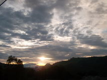 Nuestra puesta del sol Fotografía de archivo libre de regalías