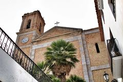 Nuestra señora Del Consuelo kościół w Altea kwadracie zdjęcia royalty free