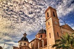 Nuestra señora Del Consuelo kościół w Altea kwadracie fotografia royalty free