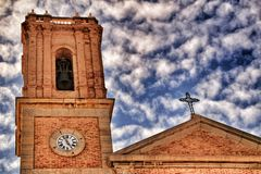 Nuestra señora Del Consuelo kościół w Altea kwadracie obraz stock