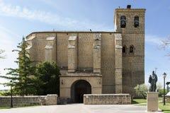 Nuestra señora De Los angeles asuncià ³ n kościół, Villatuerta, Navarre Hiszpania zdjęcie stock