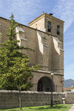 Nuestra señora De Los angeles asuncià ³ n kościół, Villatuerta, Navarre Hiszpania obraz stock
