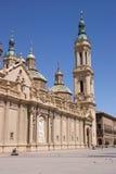Nuestra señora de la basílica del pilar en Zaragoza, España Foto de archivo