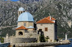Nuestra señora de la iglesia de las rocas en Perast, Montenegro Imagen de archivo libre de regalías