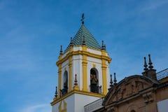 Nuestra Señora del Socorro Church tower. Ronda, Spain Stock Images
