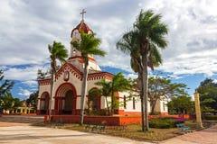 Nuestra Senora de la Caridad, spanischer Kolonialstil-katholisches Kirchengebäude-Äußeres in der Stadt von Camaguey Kuba stockbild