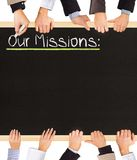 Nuestras misiones Fotos de archivo