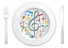 Nuestro alimento es música Imágenes de archivo libres de regalías