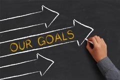 Nuestro concepto de las metas Foto de archivo