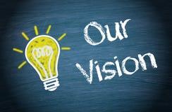 Nuestro fondo de la visión Fotografía de archivo libre de regalías