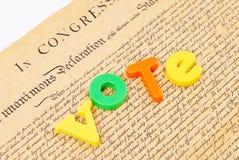 Nuestros derechos al voto Foto de archivo