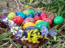 Nuestros huevos de Pascua en 2015 fotos de archivo libres de regalías