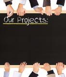 Nuestros proyectos Imagen de archivo libre de regalías