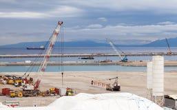 Nueva área de terminales bajo construcción Imagen de archivo