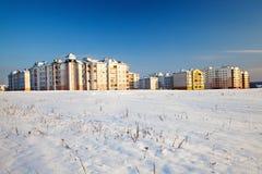 Nueva área en una ciudad. Foto de archivo libre de regalías