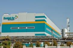 Nueva aire sellado del edificio compañía química imagen de archivo