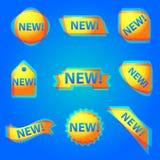 Nueva bandera colorida del web de la publicidad Foto de archivo libre de regalías