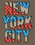 02 Nueva bandera de la ciudad de Yorj de la tipografía, vector ilustración del vector