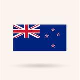 Nueva bandera de Zeland stock de ilustración