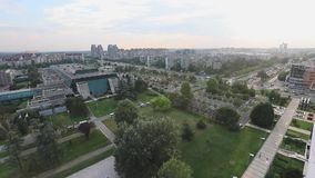 Nueva Belgrado Serbia almacen de video