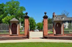 Nueva Berna, NC: Puerta de la entrada del palacio de Tryon Foto de archivo