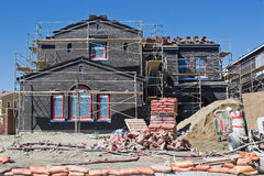 Nueva casa bajo desarrollo Imagen de archivo libre de regalías