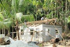 Nueva casa constructiva Fotografía de archivo