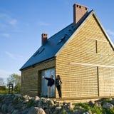 Nueva casa de compra Fotografía de archivo libre de regalías