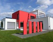 Nueva casa de planta baja europea hermosa Fotografía de archivo libre de regalías