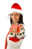 Nueva casa para la Navidad Imagen de archivo libre de regalías