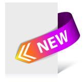 Nueva cinta de la esquina púrpura Imágenes de archivo libres de regalías