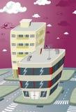 Nueva ciudad constructiva. Imagen de archivo libre de regalías
