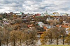 Nueva ciudad de la tierra - centro histórico de Vladimir en Rusia Foto de archivo