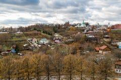 Nueva ciudad de la tierra - centro histórico de Vladimir en Rusia Foto de archivo libre de regalías