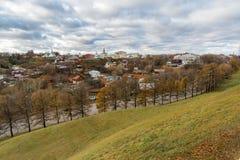 Nueva ciudad de la tierra - centro histórico de Vladimir en Rusia Fotos de archivo
