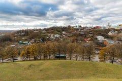 Nueva ciudad de la tierra - centro histórico de Vladimir en Rusia Fotografía de archivo