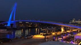 Nueva ciudad de Taipei, Taiwán - circa agosto de 2015: Puente del amante de Tamsui en la nueva ciudad de Taipei, Taiwán en la pue metrajes
