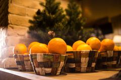 Nueva composición del YER de la Navidad con las cestas de Imagenes de archivo