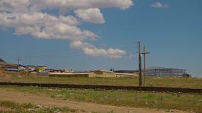 Nueva construcción de fábrica en Azerbaijan almacen de metraje de vídeo