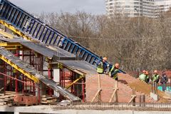 Nueva construcción de puente Foto de archivo libre de regalías