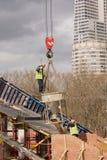 Nueva construcción de puente Imágenes de archivo libres de regalías
