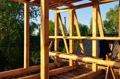 Nueva construcción de una casa imagen de archivo libre de regalías