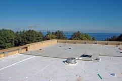 Nueva construcción del tejado Foto de archivo