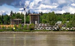 Nueva construcción en la ciudad Fotos de archivo libres de regalías