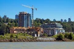 Nueva construcción en la ciudad Foto de archivo libre de regalías