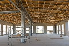 Nueva construcción industrial imagen de archivo
